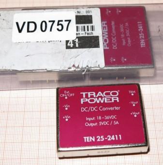 TEN 25-2411 24V/5V DC-Wandler 25 Watt TRACO