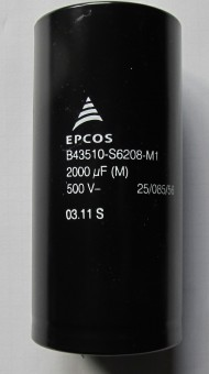 2000µF 500V B43510-S6208-M1  Elko EPCOS  DC: 03/11