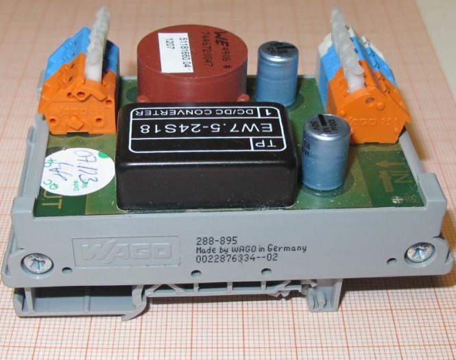 Wago 288-895 DC-Wandler f. Hutschiene 24 / 18V 0,4A