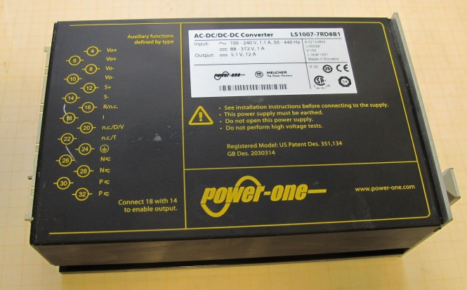POWER-ONE AC-DC/DC-DC 5.1V Converter LS1007-7RD8B1