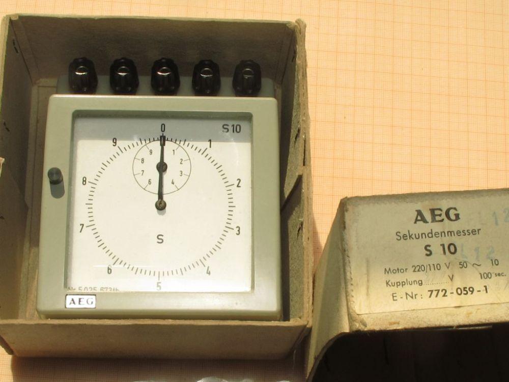 Elektronik für Profis | AEG Sekundenmesser S10 220V 50Hz | online kaufen